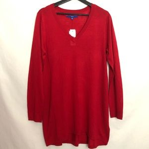 NWT Apt. 9 Soft Cardigan Red Sweater Size L